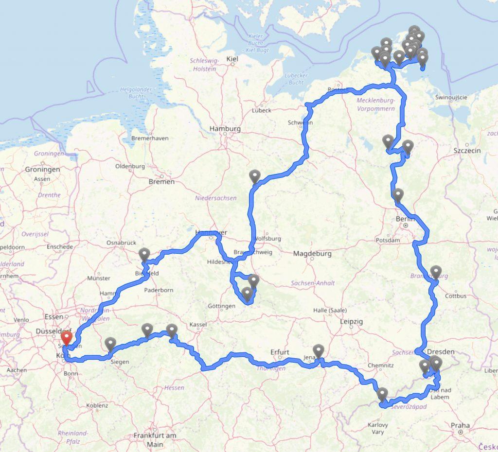Route Hin & weg 2019